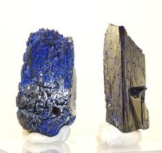 2 pcs blue crystals AZURITE,  Morocco (50,50 ct)