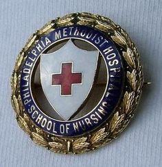 Philadelphia Methodist Hospital School of Nursing Graduation Pin 1941