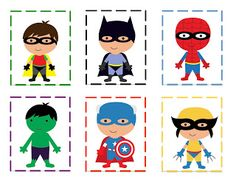 Super hero patterning cards...this site has Star Wars stuff too.  Great for the kindergarten boys!
