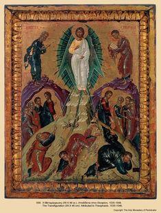 Mănăstirea Pantocrator – Muntele Athos – icoana The Transfiguration, Black Jesus, Byzantine Icons, Orthodox Icons, Illuminated Manuscript, Religious Art, Christian Faith, Black History, Bohemian Rug