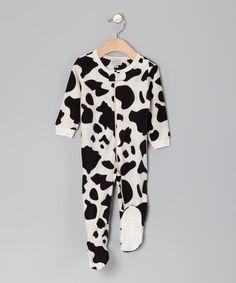 Cow Fleece Footie Sleepsuit by Leveret Sleepwear on #zulilyUK today!