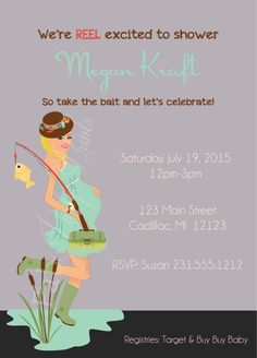Neutral Gender Baby Shower Invitation U2022 Fishing Baby Shower Invitation U2022  Theme Baby Invitation For Boy Or Girl