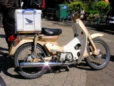 Honda Cub, Mini Bike, Motorbikes, Cubs, Japanese, Steel, Outdoor, Outdoors, Bear Cubs