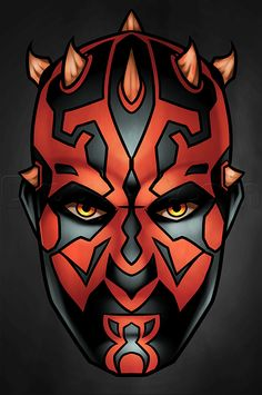 how to draw darth maul easy