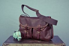 Large Leather Brady Trout Bag - Grahame Fowler Original - Mens Clothing - Mens Shirts - Based in NYC