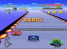 F-Zero SNES...mode 7 blew me away...still my favorite racer today.  Challenging but sweetly addicting.