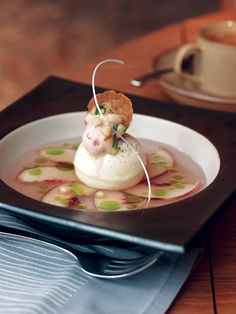 Peaches Cream   Recipes   Recipes   Food Arts #plating #presentation #foodart