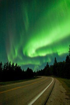 Aurora Borealis near Moon Lake, Riding Mountain National Park, Manitoba, Canada   por Warren Justice
