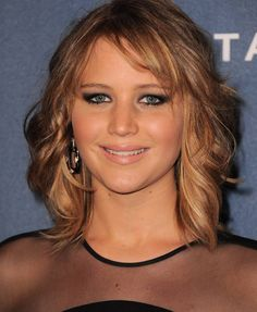 Jennifer Lawrence - wedding hair color and makeup
