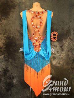 Ornate back of Latin dress as worn by Nina Bezzubova
