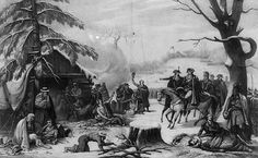 Dec. 19, 1777. George Washington and his 11,000 man Continental Army begin their grim winter encampment at Valley Forge, PA