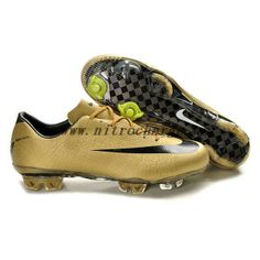 New Nike Mercurial Vapor Superfly III FG Safari Gold Black Soccer Cleats For Sale