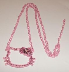 pink Hello Kitty necklace Cute all pink wow