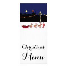 Santa In Madrid Christmas Menu Rack Card