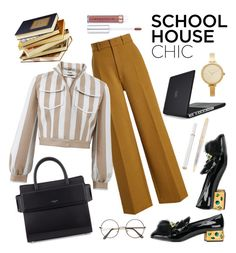 """""""School House Chic"""" by melaluuh on Polyvore featuring Prada, Givenchy, Joseph, Fendi, Speck, Michael Kors and Mikimoto"""