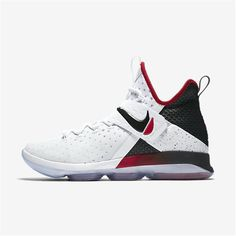 low priced 7d651 1165b NIKE LeBron XIV (White   University Red   Black) Nike Basketball Shoes, Nike