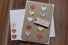 Handmade Valentine post card