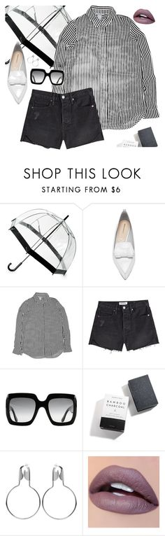 """Speechless"" by chelsofly ❤ liked on Polyvore featuring Saks Fifth Avenue, Nicholas Kirkwood, H&M, Frame, Gucci, Herbivore and Balenciaga"