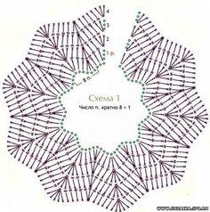 Poncho Tuch Schal -  häkeln - crochet