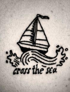 Tattoo Wave Boat Water 45 Ideas For 2019 Trendy Tattoos, Cute Tattoos, Leg Tattoos, Beautiful Tattoos, Small Tattoos, Tattoos For Guys, Boat Tattoos, Tattoo Fonts, Tattoo Quotes