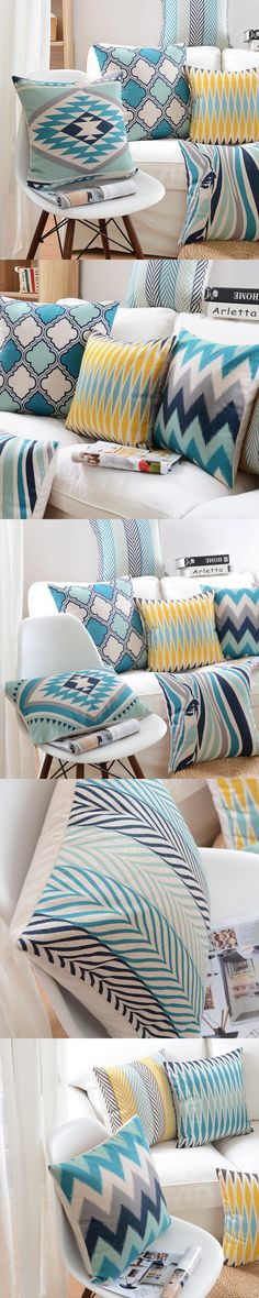 2016 Nordic Design Modern Geometric Art Pillowcase Luxury Sofa Cusions Decorative Pillow Home Decor Throw Pillow Almofadas 45*45 $12.99