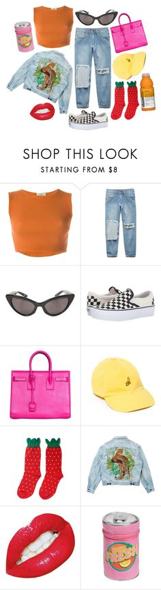 """the bright lights won't blind me"" by h3ykatrina on Polyvore featuring Romeo Gigli, Forever 21, Luella, Vans, Yves Saint Laurent, UNIF, Hansel from Basel, Levi's and H&M"