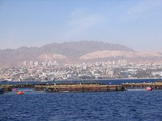 Eilat, Israel - Scenic View, commercial fish ponds in the Red Sea