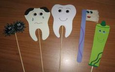 teeth puppets Body Preschool, Preschool Education, Preschool Activities, Dental Hygiene School, Dental Health Month, Dental Art, Health Activities, Art N Craft, Healthy Teeth