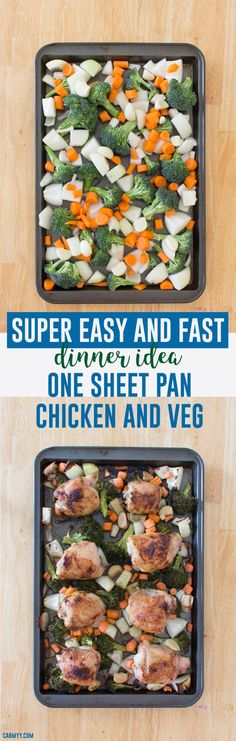 Need to fix something up in a jiffy? This One Sheet Pan Chicken and Vegetable is so fast and easy to make, you'll have dinner in no time!