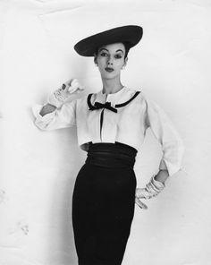 June Duncan in a fashion shot by John Deakin, 1950s