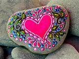 Fairy Tale Love / Painted Rock / Sandi Pike Foundas / Cape Cod