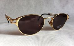 Jean-Paul GAULTIER 56 - 4177 Vintage Sunglasses New Unworn Deadstock with Softcase and Adjustable Temple Design