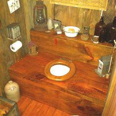 a friend of mine has an'outhouse' bathroom
