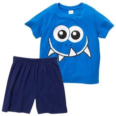 Boys' essentials Short Pyjamas - Blue | Target Australia