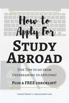 There are so many questions to answer when planning your study abroad adventure! Let me help you find those answers! Learn how to apply for study abroad!