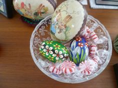 eggs and mints.....wooden eggs from Poland ---Spring 2016