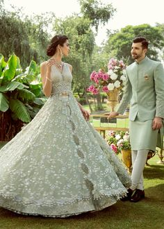 Beryl Bloom - New Ideas Engagement Dress For Groom, Pakistani Engagement Dresses, Pakistani Wedding Outfits, Indian Outfits, Pakistani Fashion Party Wear, Indian Bridal Fashion, Asian Fashion, Fashion Beauty, Pakistani Bridal Lehenga