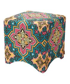 Look at this Teal & Brown Miles Ottoman on #zulily today!