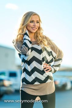 Chevron Devotion Tunic | SexyModest Boutique