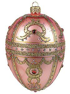 Pink Royal Braid Faberge-Inspired Easter Egg Ornament -- cookie design inspiration