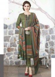 Dark Green Salwar Kameez For Casual Wear