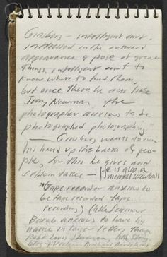 Jack Kerouac's 1953 notebook…