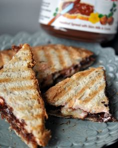 Strawberry Nutella panini recipe