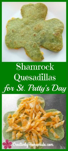 Quick to prepare and fun to eat, Shamrock Quesadillas make a great St. Patrick's Day snack for kids and adults alike. patricks day ideas for adults Home Improvement Information St Patrick Day Snacks, St Patricks Day Drinks, St Patricks Day Crafts For Kids, St Patricks Day Meal, St Patricks Day Snacks For School, Quesadillas, Dinners For Kids, Kids Meals, Party Food For Adults