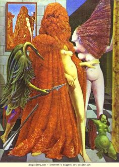 Max Ernst. The Robing of the Bride. 1940. Oil on canvas. 130 x 96 cm. Peggy Guggenheim Collection, Venice, Italy.