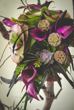 {Movie Inspired} Disney Villainess Maleficent Dark & Earthy Wedding | Photograph by BG Productions