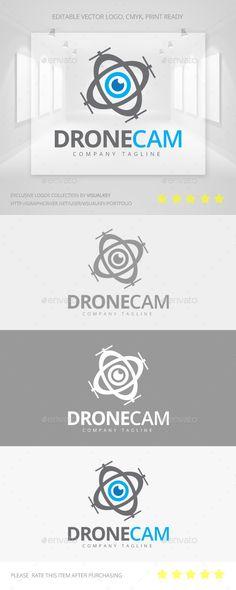 Drone Camera Logo — Vector EPS #sky #media • Available here → https://graphicriver.net/item/drone-camera-logo/11323190?ref=pxcr