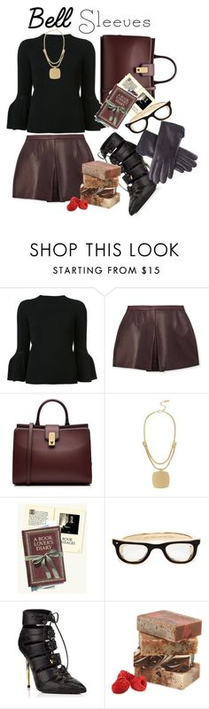 """""""Bell sleeves"""" by sarks ❤ liked on Polyvore featuring Carolina Herrera, Vince, Marc Jacobs, Kenneth Cole, Kate Spade and Black"""