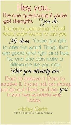 God loves me!! unbrokenbygrace.tumblr.com via Tumblr