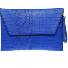 Asos Envelope Laptop Case In Faux Croc Effect ($16) ❤ liked on Polyvore